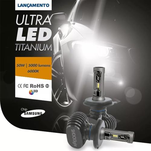 pollo-pollo Kit Ultraled Shocklight Titanium 10000 L Alto Baixo Milha