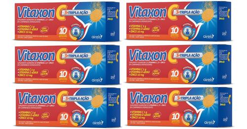 shakira-shakira Kit 6 Vitaxon Tripla Acao Vitamina C D Zinco 6x 10 Cpr